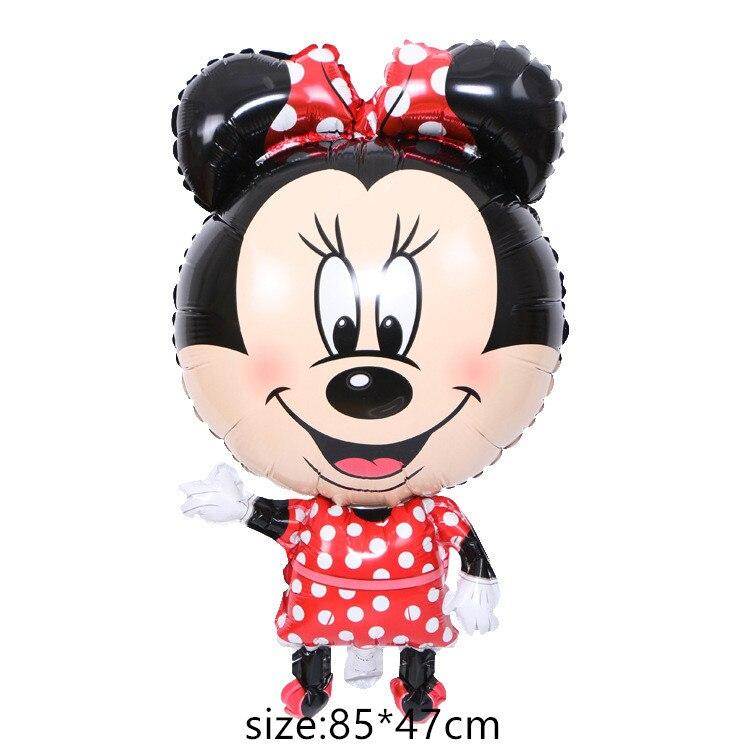 Гигантский мультяшный милый мышонок мультяшный воздушный шар из фольги воздушный шар детский день рождения украшения Классические игрушки подарок мультяшная шляпа - Цвет: 7