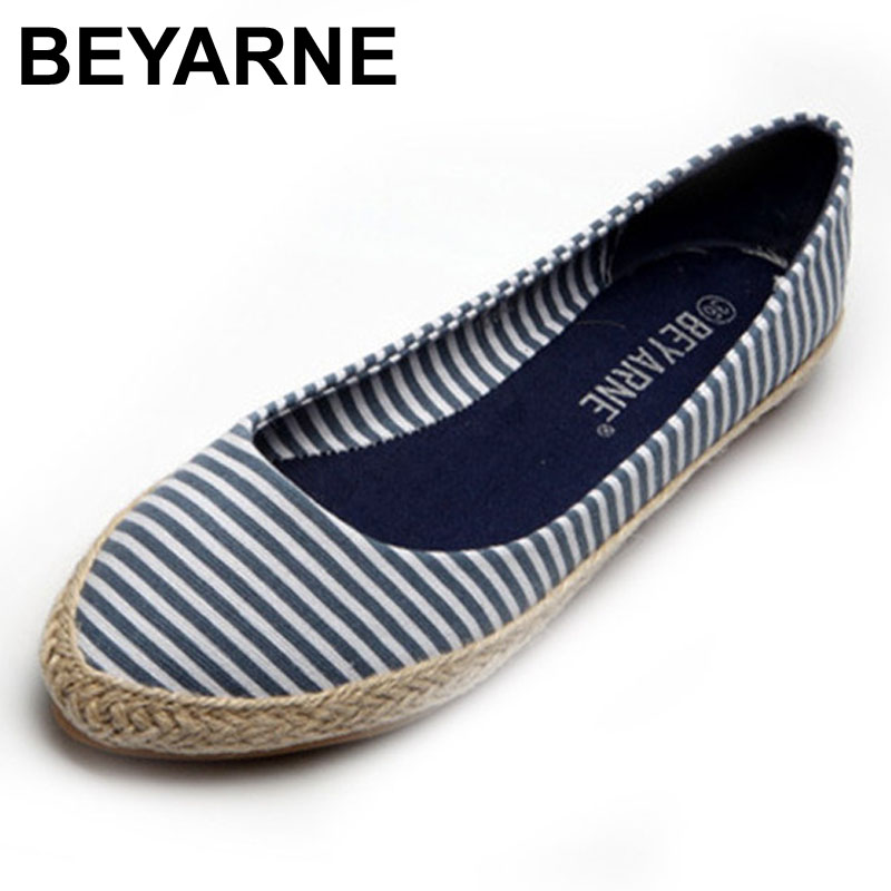 BEYARNE plus size 35-41 women comfortable cavans nations wind flat shoes with hemp rope covered fashion lazy shoes wholesale