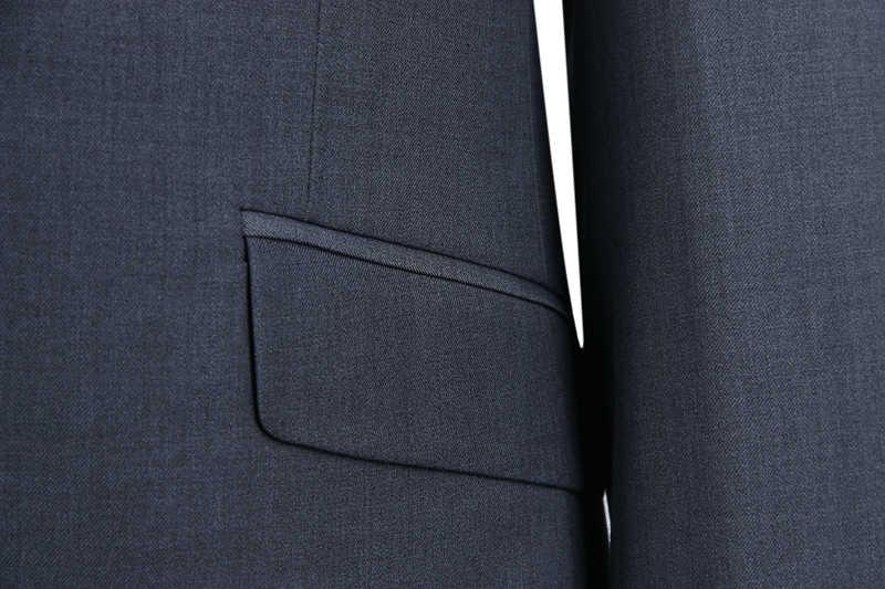 DARO メンズスリムフィットワンボタンスーツジャケットとパンツ左と右ベント男性ブランドブレザー (DARO8158-A7 #)
