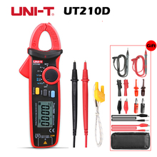 UNI T UT210D Clamp Meter Multimeter True RMS Auto Range 200A digital data show capacitance meter multimetro current clamp 1 GIFT uni t ut210d auto range digital clamp meter multimeter ac vc current voltage resistance capacitance frequency high quality