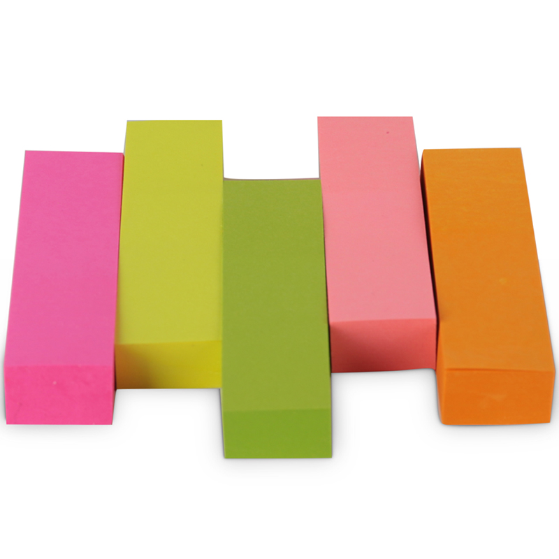 One Package Five-color 50*15 Mm Note Paper 100 Page/color Sticky Note Color Paste N Times Post Indicator Deli 7154