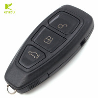 KEYECU Intelligent Remote Key 3Buttons 434MHz ID83 For Ford Focus C Max Mondeo Kuga Fiesta FCC