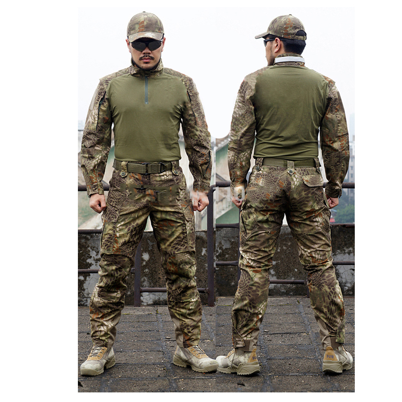 Kryptek Mandrake Frog Fighting Suit police Frog uniforms army trainning uniform set one long sleeve shirt and one tactical pant garcia jeans свитер