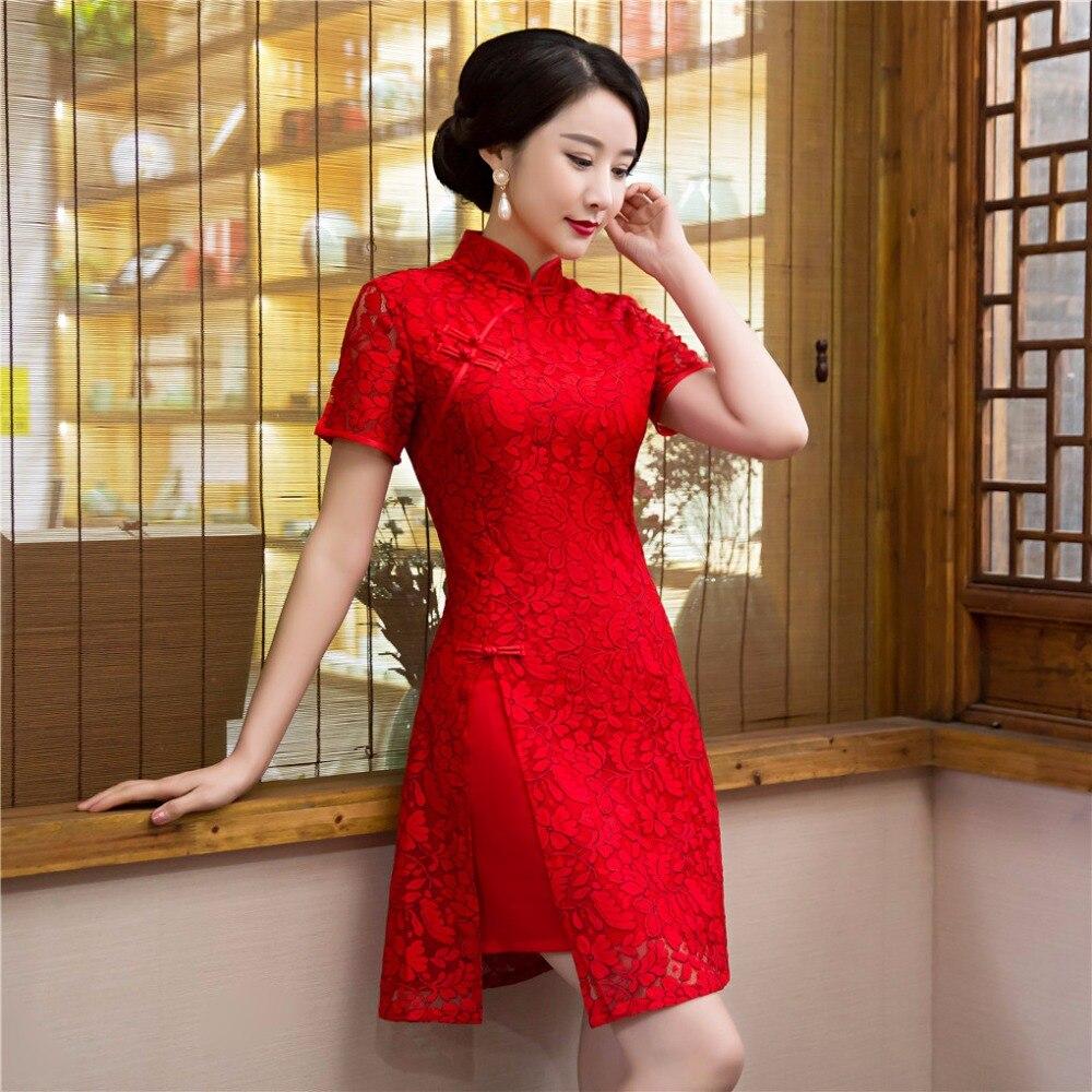 Shanghai Geschichte Spitze Chinesische Qipao Kleid vintage chinesische  cheongsam kleid der Chinesischen Mischung Baumwolle Orientalischen Kleid  China