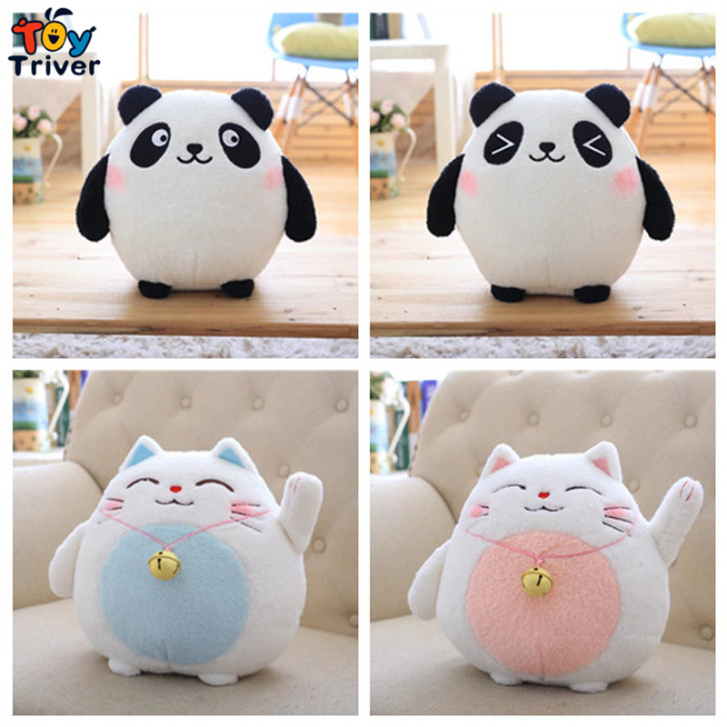 18/30cm Plush Fortune Bell Cat Lucky Cats Maneki Neko Toy Stuffed Doll Bamboo Charcoal Bag Baby Kids Gift Home Shop Car Decor 30cm plush fortune bell cat lucky cats maneki neko kitty toy stuffed doll bamboo charcoal bag activated carbon automotive decor
