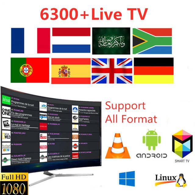 US $10 0  Europe IPTV Subscription 6300+Channels UK Belgium Sweden France  Arabic Canada IPTV Code M3U 4K HD Smart TV Box Android Free Test-in Set-top