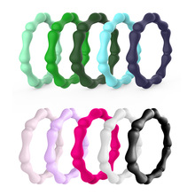 Bohemian Style Fashion Silicone Rings Bamboo Joint Shaped Ring Comfortable Sports Rubber Wedding Bands Charm Gifts