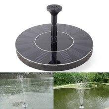 Neue Fashional Solarbetriebene Wasser Schwimmpumpe Brunnen Garten Pflanzen Pool Bewässerung Solarpumpe Kit Set