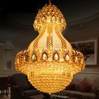 Новый роскошный большой K9 золото Хрустальная люстра блеск светодио дный Современные Люстры Гостиная лобби отель инженерные лампы