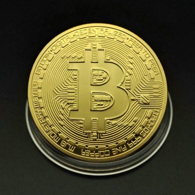 Bitcoin Physical Gold Plated Coin 2