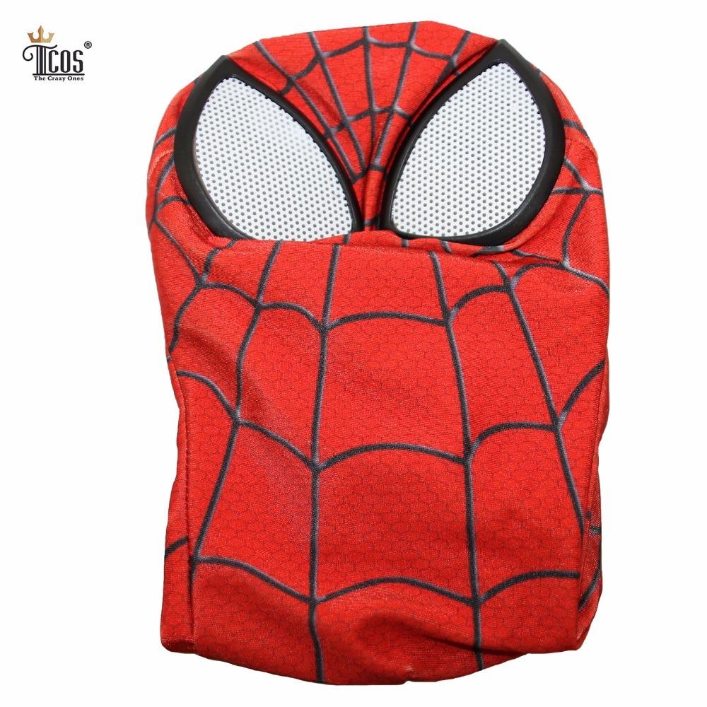 3D Spiderman Mask Linser Vuxen Unisex Halloween Tillbehör Masque - Maskeradkläder och utklädnad - Foto 3