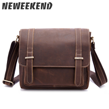 Genuine Leather Small Size Briefcase Real Cowhide Crossbody Shoulder Handbag Portfolio Office Business Caual Bag 1115
