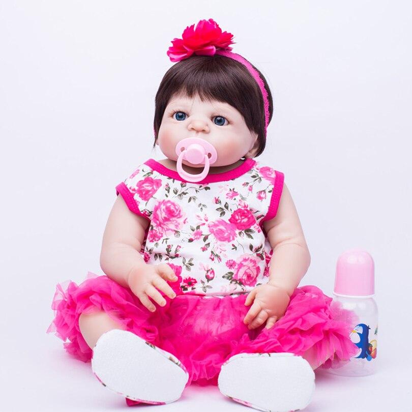 New Design 55cm Silicone Body Dolls For Children Birthday Christmas Gifts Reborn Realistic Girls Fashion Lovely Princess Dolls new children girls fashion birthday