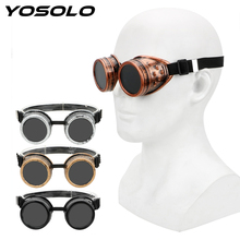 YOSOLO Moto Goggles Adjustable Steampunk Glasses Retro Weldi