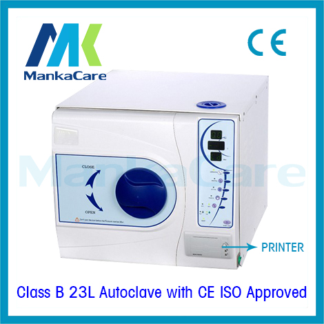 <font><b>23L</b></font> Sterilizer with Printer Europe B class Medical Dental Clinic <font><b>autoclave</b></font> Lab Equipment Disinfection Cabinet Big Discount image