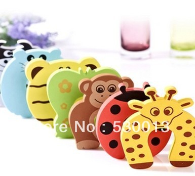 4 PCs Child kids Baby Animal Cartoon Jammers Stop Door stopper holder lock Safety Guard Finger Protect Free Shipping