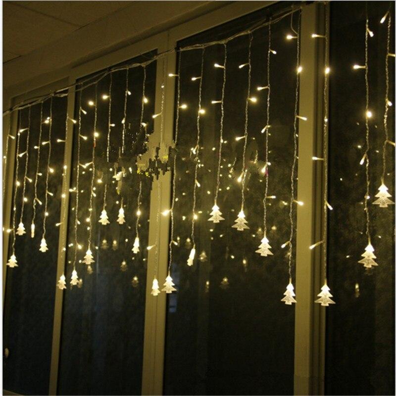Novo Ano de 2020 Decorações De Natal para Casa Luzes de Natal LEVOU Luz 3.5M 96 Adornos De Navidad Natal Guirlanda de Natal kerst