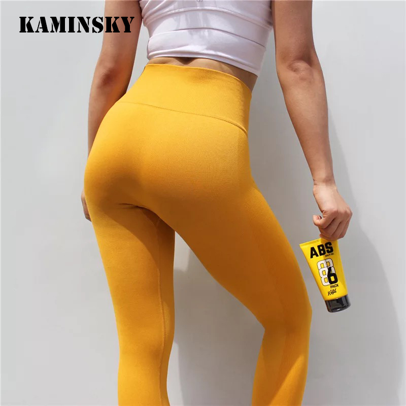 Kaminsky 7 Color Women Seamless   Leggings   High Waist   Leggings   Warm Casual Pants Sexy Ladies Fashion Breathable Workout   Leggings
