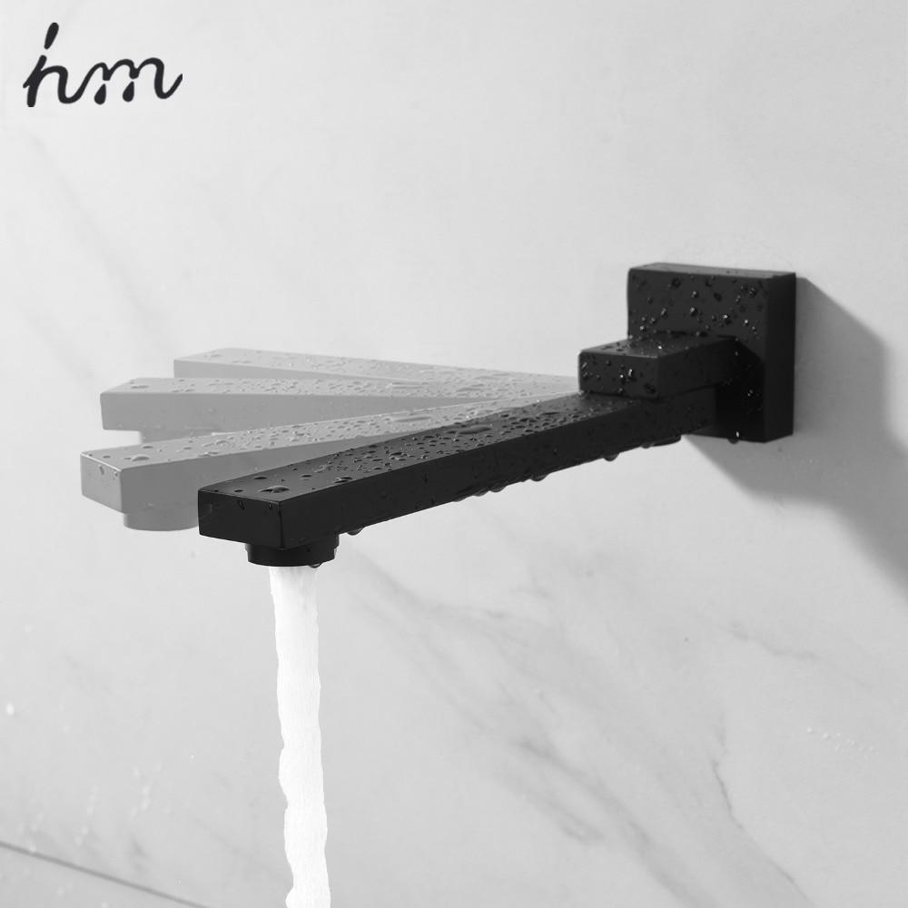 hm 180 Degree Folding Shower Faucets Spout Filler Solid Brass Split type Bibcocks Basin Faucet Mixer