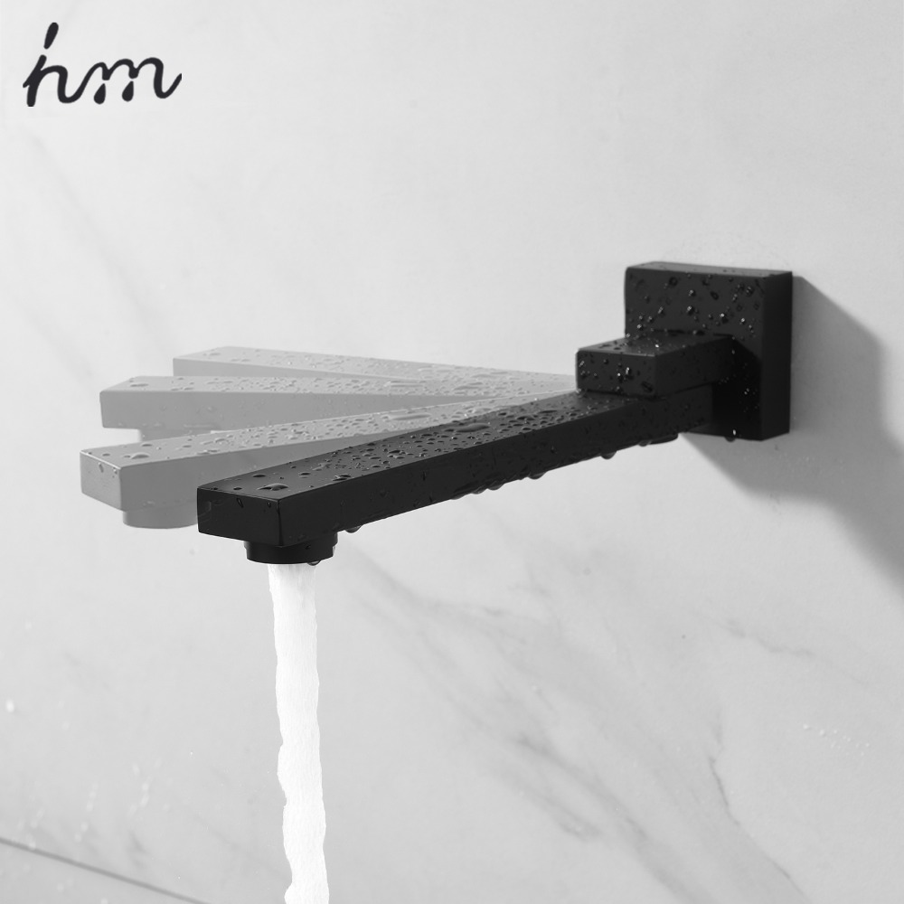 hm 180 Degree Folding Shower Faucets Spout Filler Solid Brass Split-type Bibcocks  Basin Faucet Mixer valve Spout & Tap Aerator