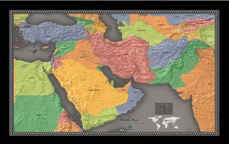 Shinehome large middle east world map mural living room bedroom wall shinehome large middle east world map mural living room bedroom wall paper wallpaper 3d colorful fantasy geological map backdrop in wallpapers from home gumiabroncs Gallery