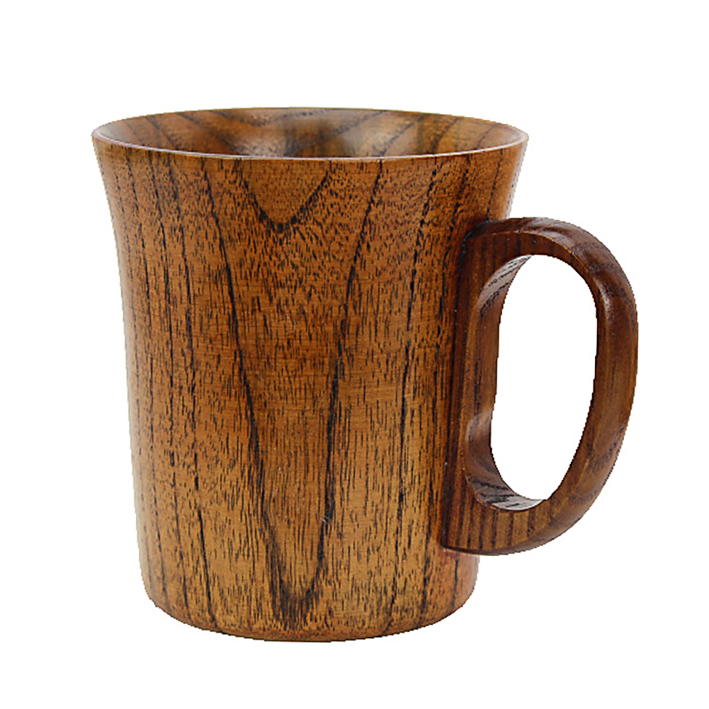 Cup Handmade Wooden Mug With Handle Beer Safe Coffee Vintage Water Tea