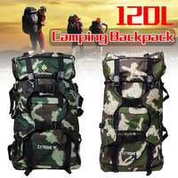 New 120L Large Capacity Outdoor Camo Backpack Milatary Army Rucksack Mochila Tactical Hunting Travel Camping Outdoor Bags