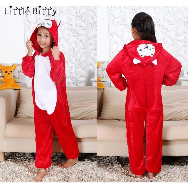 Little Bitty children animal cat fox panda owl giraffe pokeman kigurumi stitch pig tiger spiderman dinosaur baby kids pajamas