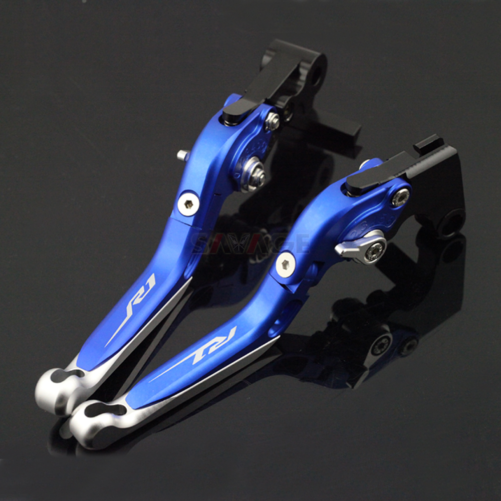 Brake Clutch Lever For YAMAHA YZFR1 YZF R1 R1M R1S 2015 2016 2017 Blue Motorcycle Adjustable
