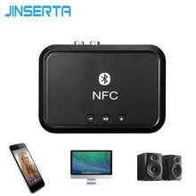 JINSERTA Wireless Bluetooth Receiver Portable 4.1 Audio Bluetooth Adapter NFC-Enabled 3.5mm Stereo Music Sound TV Car Speaker