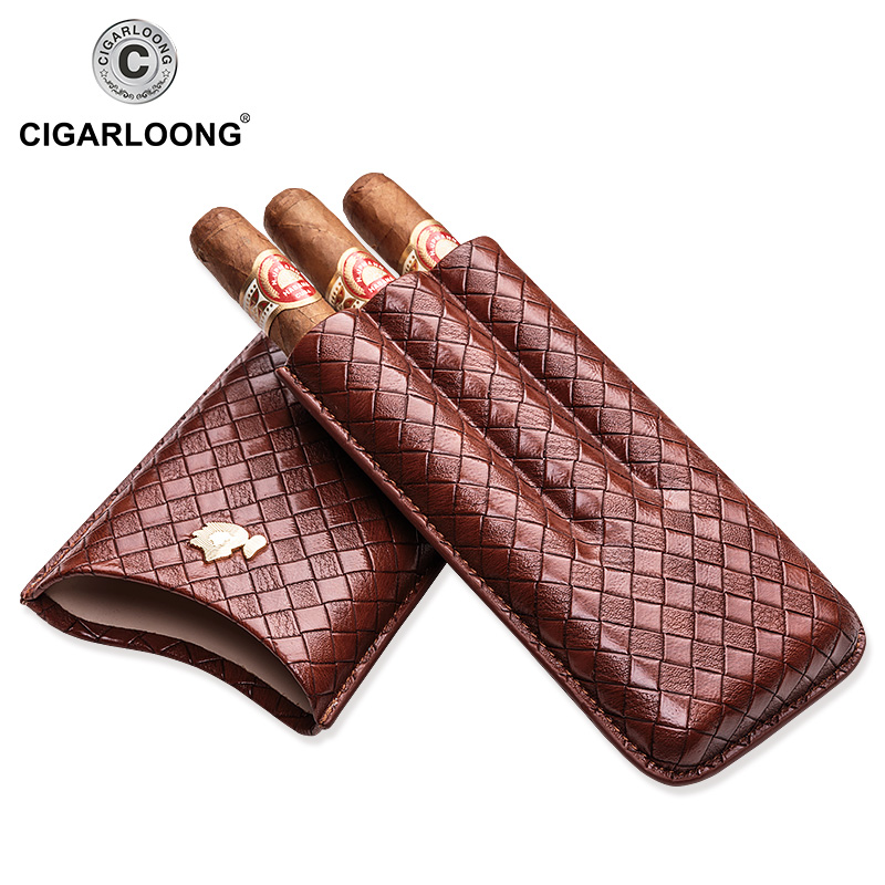 COHIBA Cigar case travel portable cigar humidor case holds 3 cigars cigar holster CP 1018 in Cigar Accessories from Home Garden