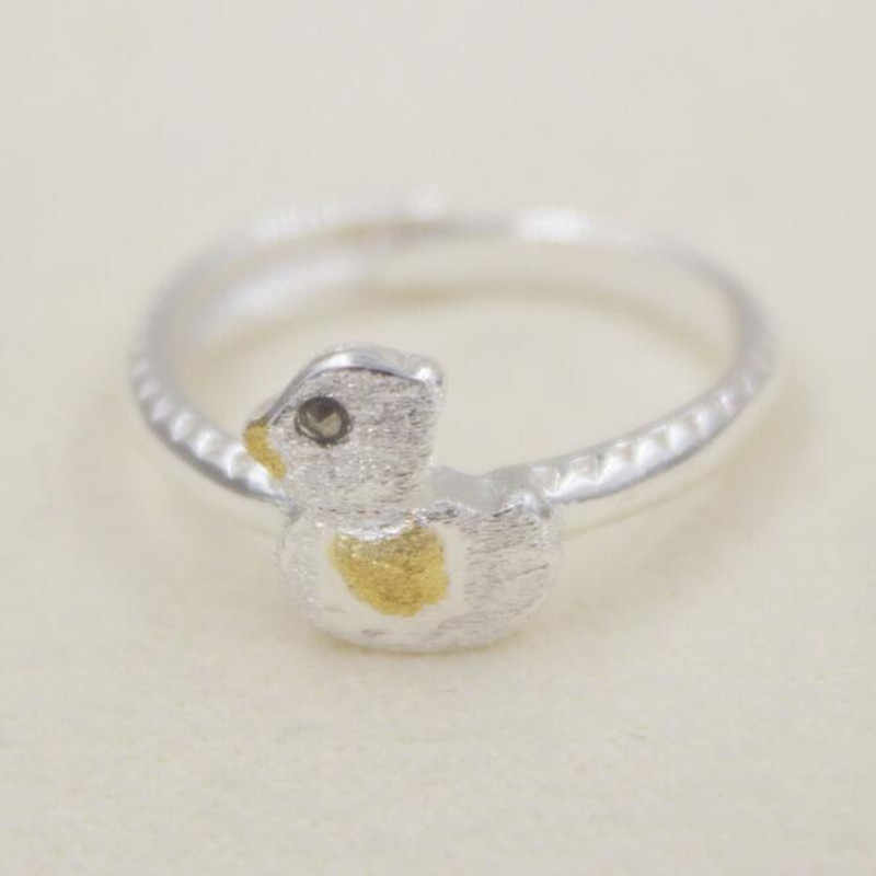 New Arrival Creative Popular 925 Sterling Silver Jewelry Small Fresh Cute Duck Simple Opening Ring      SR215