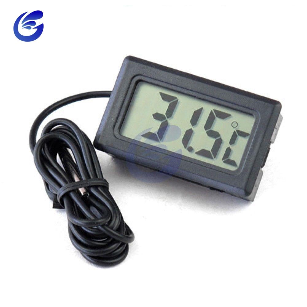 HTB1eIuPacrrK1RjSspaq6AREXXak Mini Digital LCD Probe Fridge Freezer Thermometer Sensor Thermometer Thermograph For Aquarium Refrigerator Kit Chen Bar Use 1M