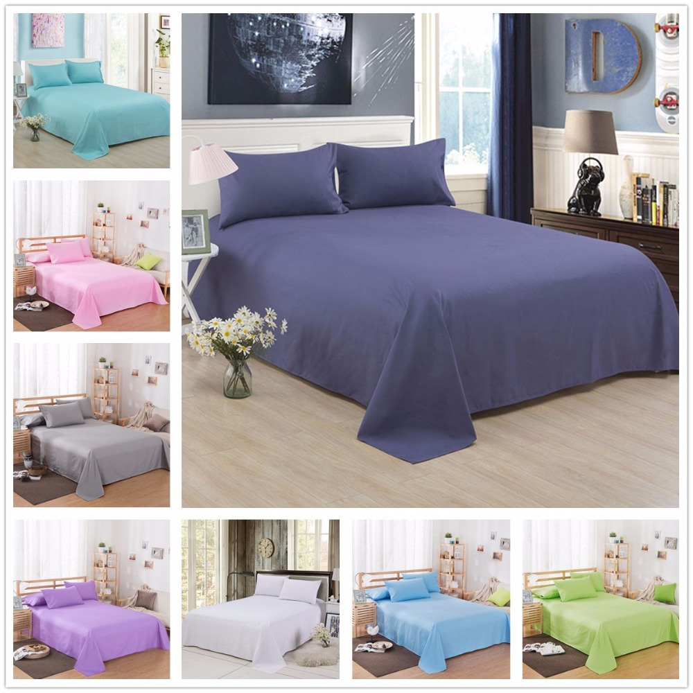 Classic Bed Sheet Earthing Sheet Shams Solid Bedsheet Bedspreads Bed Flat Sheet Double Bed Covers Purple Bed Sheet Set King Size