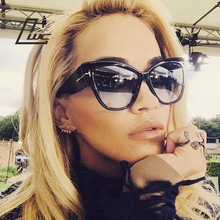 Cat eyes Sunglasses Fashion Women Flat Top Oversize Shield Shape Glasses Brand Design Vintage Sun glasses Female Rivet Shades