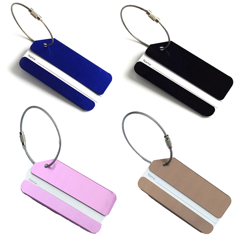 1Pc Metal Travel Luggage Baggage Suitcase Address Tags Label Holder