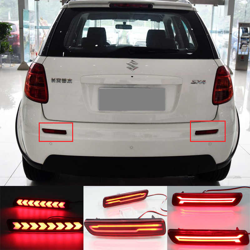 1 Set Car LED For Suzuki Ertiga Ciza Vitara S-Cross Splash SX4 Rear Brake Tail Bumper Reflector Rear fog Warning Light