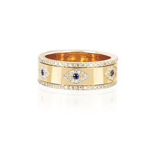 Band-Rings Finger-Jewelry Engraved Engagement Evil-Eye Gold Women for Lady Party-Gift