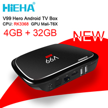 V99 Hero Android Tv Box 4GB Ram 32GB Android 5.1 Smart TV Box RK3368 Octa Core Mali-T6X TV Box Dual Band Wifi 2.4/5GHz AC Kodi