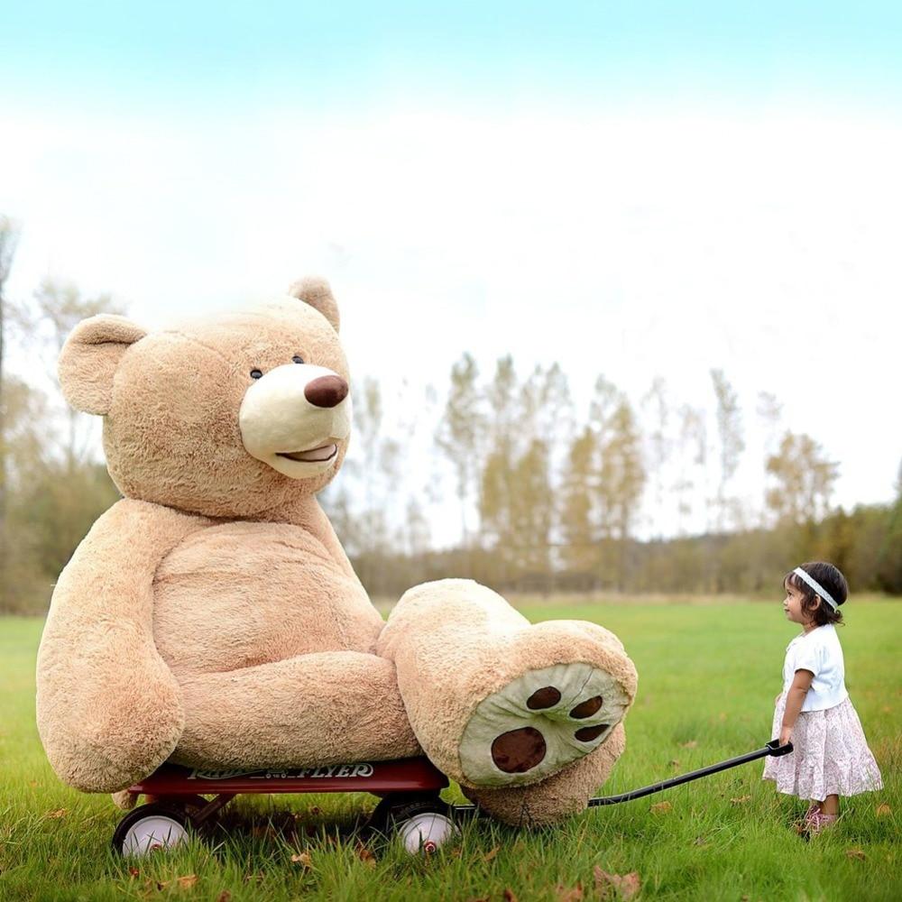 80cm to 260cm giant bear skin toy American Bear plush Teddy Bear bearskin plush fabric plush toy