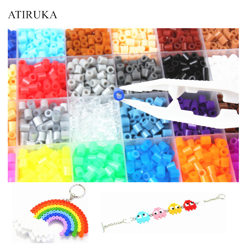 1000pcs/bag 5mm Hama Beads Juguetes 48 Colors Perler Beads Puzzle Educational Toys Jigsaw Puzzle 3D For Children Abalorios