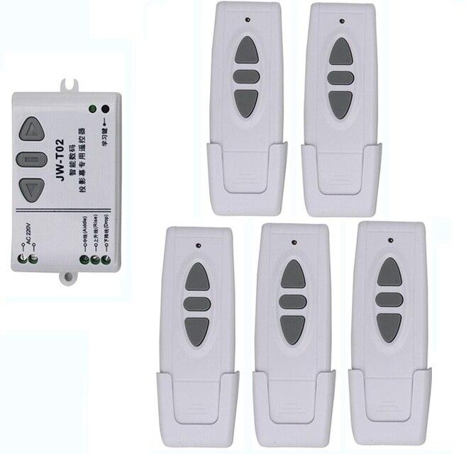 110 V-250 V sans fil écran de projection télécommande commutateur projection rideau télécommande commutateur @ 1x récepteur + 5X émetteur