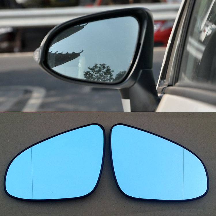 Ipoboo 2pcs New Power Heated w/Turn Signal Side View Mirror Blue Glasses For Toyota EZ