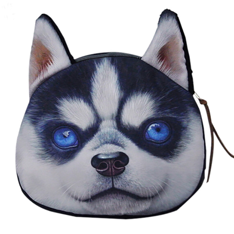 coin purses wallet ladies 3D printing dogs animal big face change fashion cute small zipper bag women Mujer portafoglio bolso 2017new coin purses wallet ladies 3d printing cats dogs animal big face fashion cute small zipper bag for women mini coin purse