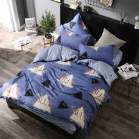 Nordic Geometric Bedding Set queen twin king size 4pcs/3pcs Duvet Cover Soft star Bed Linen boy Flat Sheet Pillowcase Drop Ship