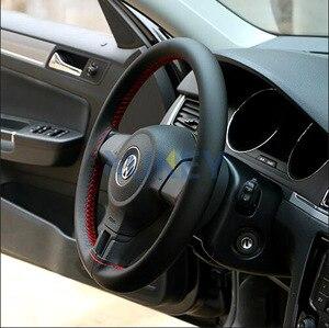 Image 4 - Ультратонкие чехлы из волокнистой кожи для ручного шитья, для рулевого колеса, для Ford Focus 2 3 Kia Benz Smart Nissan