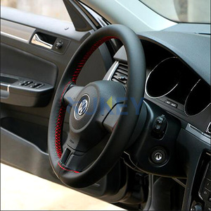 Image 4 - Ultrafine Fiber Leather Hand Sewing DIY Car Steering Wheel Cover Steering wheel Covers For Ford Focus 2 3 Kia Benz Smart Nissan