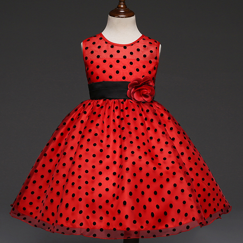 children's flower girl dress clothes 2017 fashion new baby kids party girls princess black and red wedding dresses summer 2017 new girl dress baby princess dresses flower girls dresses for party and wedding kids children clothing 4 6 8 10 year