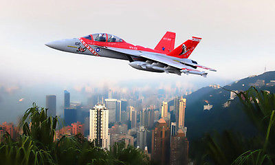 Scale SkyFlight LX EPS Red Twin 70MM EDF F18 Jolly Roger KIT RC Airplane Model W/O Motor Servos ESC Battery cartoon airplane style red