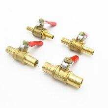 6 мм 8 мм 10 мм 12 мм шлангов равный двухсторонний латунный пневматический запорный шаровой клапан фитинг для труб соединитель переходник